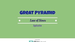 Great Pyramid of Cheops.  Law of Sines