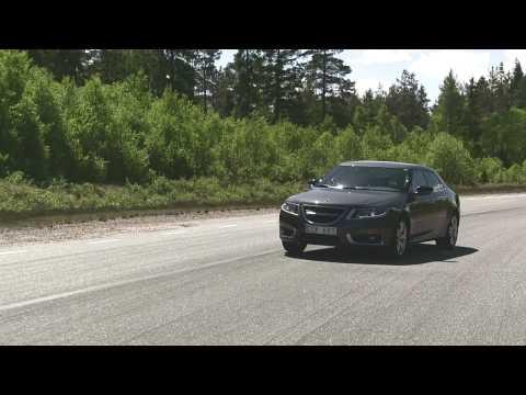 Saab 9-5 Handling Track Video