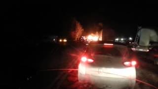 Авария на трассе Рязань-Москва(после Рыбного)
