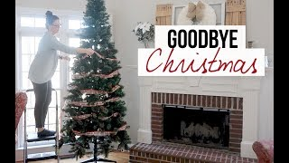 Goodbye Christmas | Taking Down ALL the Decorations