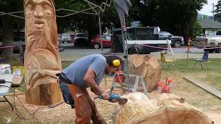 2019 Chainsaw Carving Competition In Hope, BC