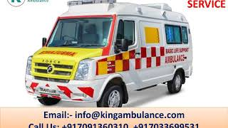King Low-Fare Ambulance Service in Ranchi and Bokaro with ICU Setup