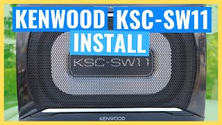 KENWOOD KSC-SW11 INSTALL Underseat Compact Subwoofer (2/3 Install Series)
