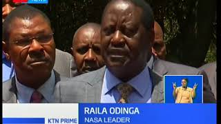 Raila Odinga today failed to convince NASA senators to reinstate Moses Wetangula as senate Minority