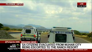 The military plane transporting over 140 - South African citizens repatriated from China has landed at the Gateway International Airport in Polokwane.  The group including volunteers and SANDF officials will then be transported by road to The Ranch Hotel in Polokwane, where they'll be quarantined for 21-days amid COVID-19  For more news, visit sabcnews.com and also #SABCNews on Social Media.