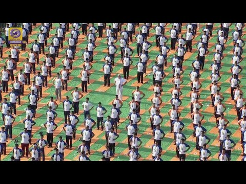 50K people gather to celebrate International Yoga Day in India