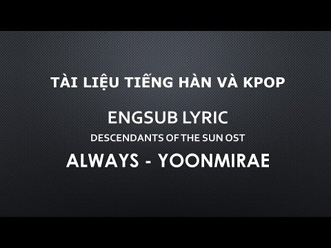 Engsub Lyric Always Descendants Of The Sun OST Mp3