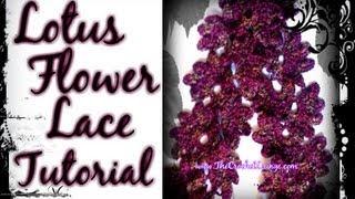 Lotus Flower Lace Scarf - Vintage Pattern The Crochet Lounge Way