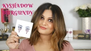 NEW KYLIE JENNER KYSHADOW BURGUNDY  REVIEW AND SWATCHES