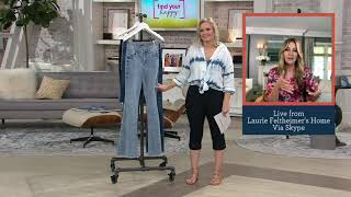 Laurie Felt Daisy Denim Flare Jeans on QVC