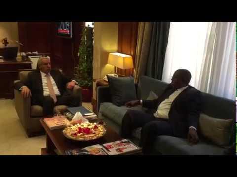 لقاء المهندس/طارق قابيل وزير التجارة والصناعة مع نظيره الكاميرونى