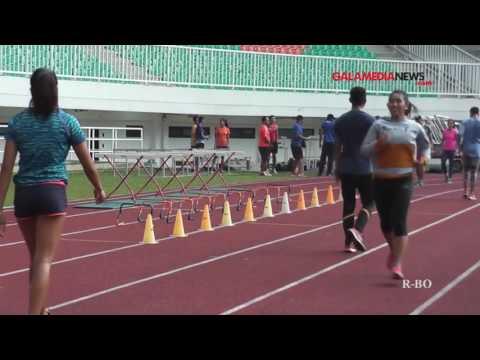 Video Suasana Latihan Tim Atletik PON Jabar di Stadion Pakansari