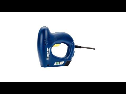 Capsator electric Rapid E-TAC pentru capse si cuie DIY, magazie duala, capse 140/6-14mm, cuie 8/15mm, sistem siguranta 5000573