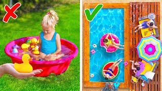 DIY GIANT BACKYARD POOL    Easy Backyard Decor Ideas For Parents and Kids