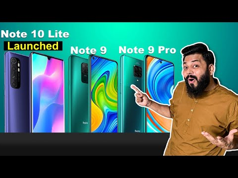 Redmi Note 9, Note 9 Pro & Mi Note 10 Lite Launched ⚡⚡⚡ India Launch, Price जानिये सबकुछ