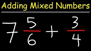 Adding Mixed Numbers With Fractions