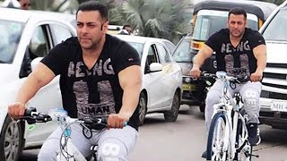 Salman Khan Cycling & Riding Bike On Mumbai Roads