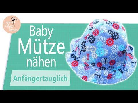 Baby / Kinder Sommer Mütze, Sonnenhut nähen für Anfänger - ohne Schnittmuster