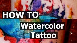 #Tattoo Techniques - #watercolor - Time Lapse - Process Tattooing