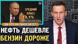 НЕФТЬ УПАЛА БЕНЗИН ДОРОЖАЕТ. Путин удивился росту цен на бензин. Алексей Навальный 2020