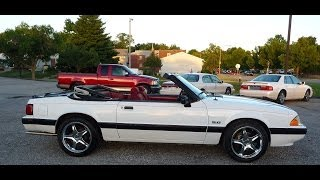 1988 Ford Mustang LX 5.0 Convertible - Startup, test drive, FOR SALE!