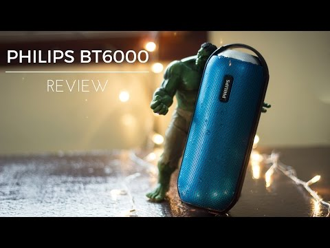Philips BT6000 Bluetooth Speaker Review - Splash Proof & 360 Degree Sound
