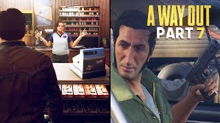 ROBBING A GAS STATION - A Way Out - Part 7 (Prison Break Escape Game)