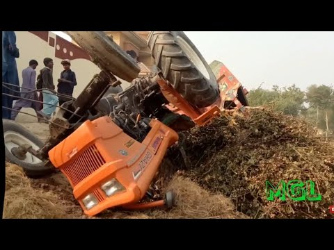 Tractor Accident, NH Ghazi Tractor Accident and Rescue With Massey 385 & FIAT 480, Tractor Fails