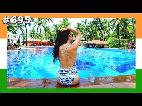 GOA SWIMMING POOL DAY TAJ HOTEL INDIA DAY 695 | TRAVEL VLOG IV