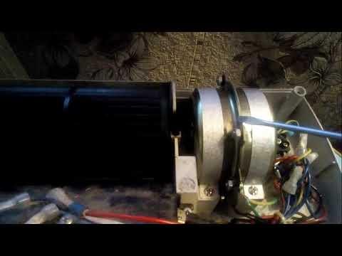 Настенный керамический обогреватель. Ремонт вентилятора.