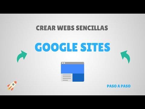 Crear páginas web con GOOGLE SITES - Nueva Versión 2018