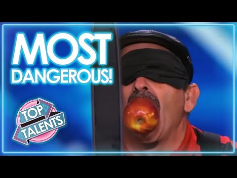 MOST DANGEROUS AUDITIONS EVER ... On Got Talent | Top Talents (видео)