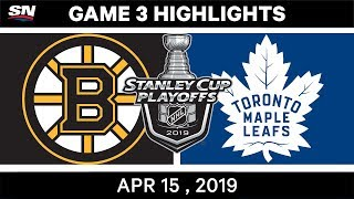 NHL Highlights | Bruins vs Maple Leafs, Game 3 – April 15, 2019