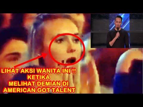 TERCENGANG !! Lihat Aksi Wanita Ini Ketika Melihat Demian Di America's Got Talent 2017 (видео)