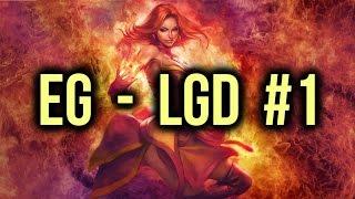 EG (Evil Geniuses) vs LGD Dota 2 Highlights TI5/The International 5 Semifinal Game 1
