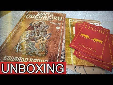 Unboxing de Santo Guerreiro: Roma Invicta, de Eduardo Spohr (com brindes)
