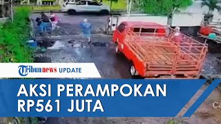 Aksi Perampokan di Kota Semarang Terekam CCTV, Pelaku Bawa Senpi hingga Uang Rp561 Juta Raib