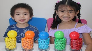 Learn Colors with Gumballs Balloons Surprise inside for Kids