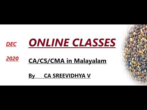 CA/CS/CMA ONLINE CLASSES IN MALAYALAM