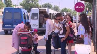 «Саяхат» автобекеті маңындағы сүрілген базар сатушылары өзге орындарға көшірілді (15.08.18)