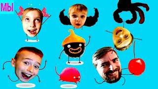 Смешная игра про Черного зверька ЧУЧЕЛ Смотреть до конца играем вместе с папой letsplay by kid