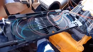 Optical Fiber Cable splicing and Routing