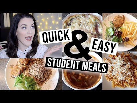 Video 5 Quick & Easy Meals for Students!! | ohhitsonlyalice