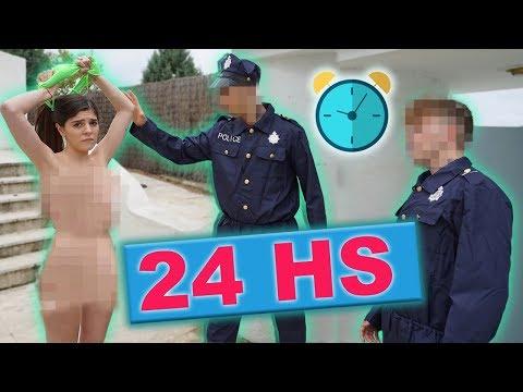 24 HORAS DICIENDO SI A TODO CON MI NOVIA !! SE D3SNUDA Y LA LLEVAN DETENIDA