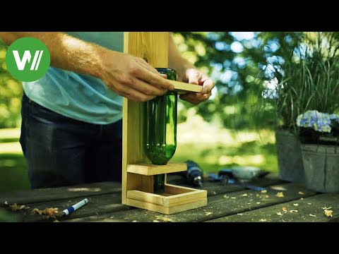 Vogelfutter-Automat - so baut man einen Futterspender