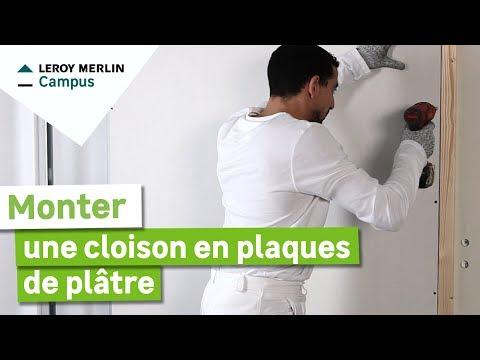 Comment monter une cloison en plaques de plâtre sur ossature métallique ?