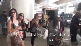 Fifth Harmony Struts Through LAX While Their Security is Rude 09.11.14
