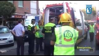 preview picture of video 'Seis heridos en una explosión en una tienda de Carabanchel (12/09/2013).'