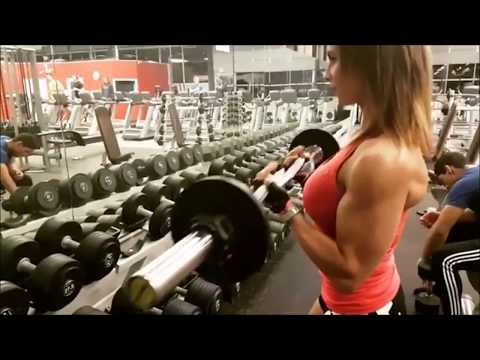 Girl Flexing Biceps Compilation Instagram 2