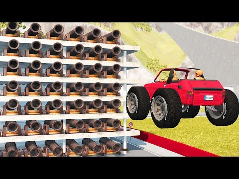 Beamng Drive CANNON RIOT #1 | CrashTherapy